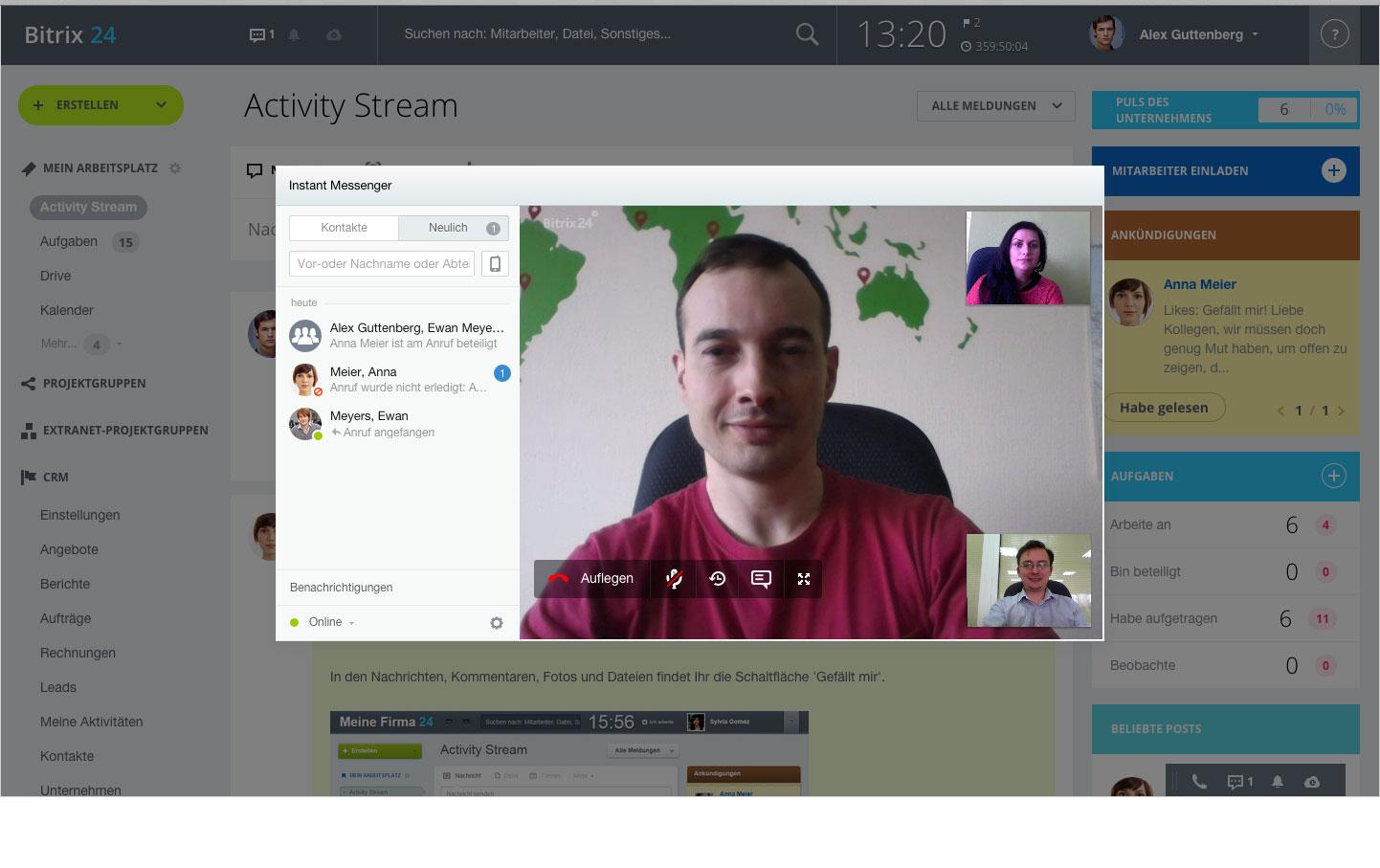 LINXYS Social Intranet Projektkommunikation