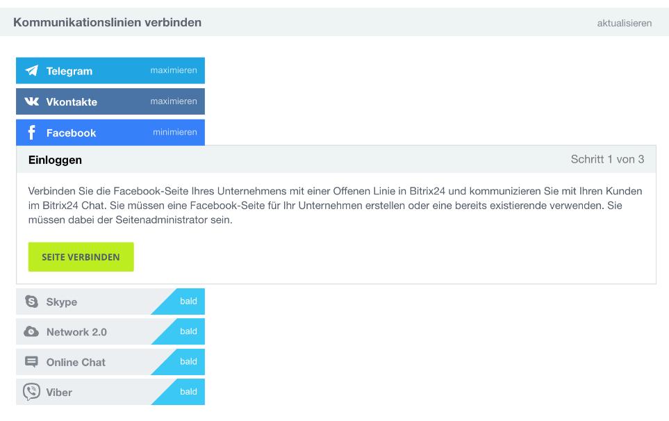 LINXYS Social Intranet CRM Offene Linien Bitrix24