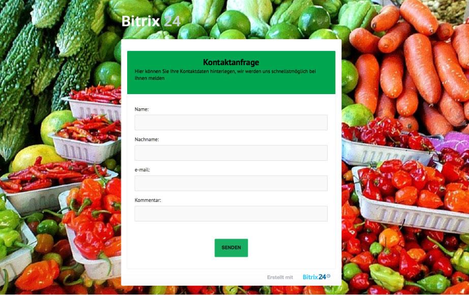 LINXYS Social Intranet CRM Webformular Bitrix24