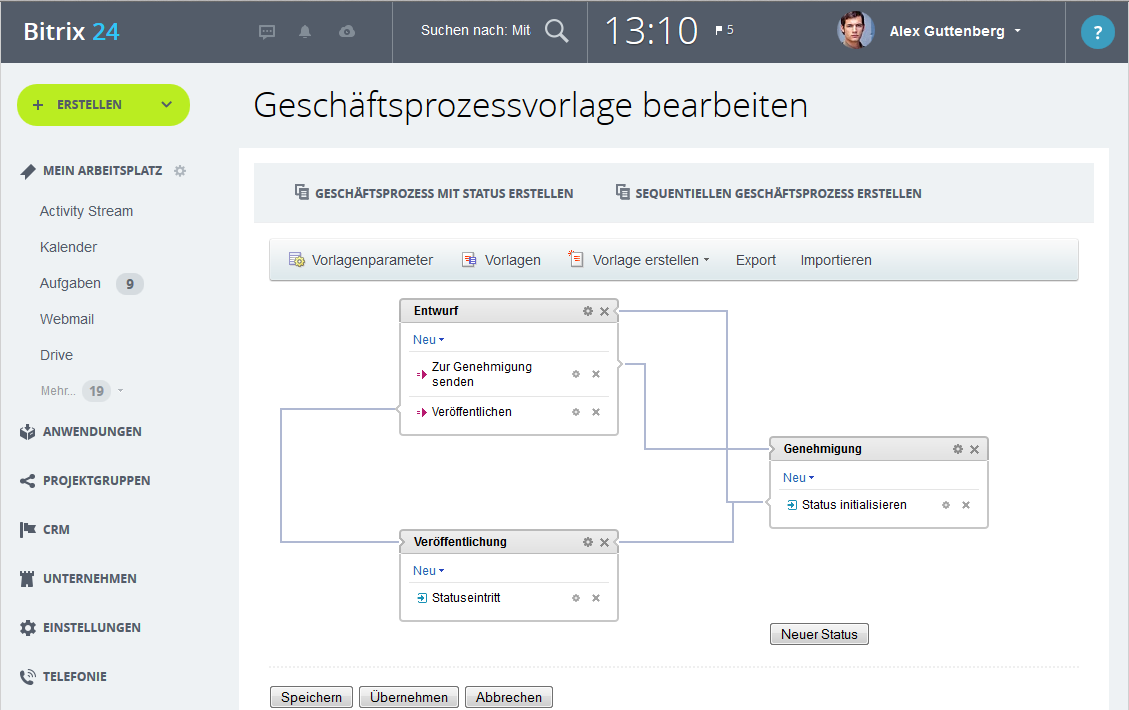 LINXYS Social Intranet Genehmigungs-Workflows