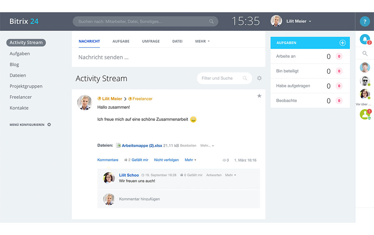 LINXYS Social Intranet HR Extranet Bitrix24