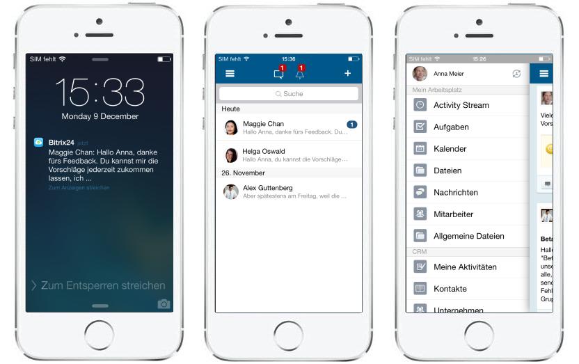 LINXYS Social Intranet Mobile App Bitrix24