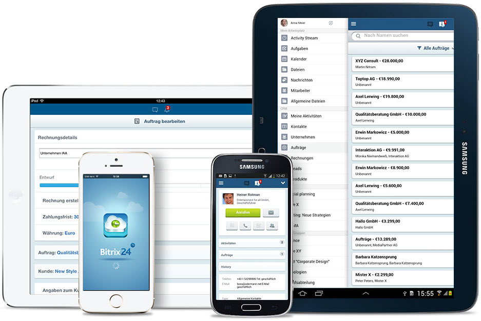 LINXYS Social Intranet Mobile CRM Bitrix24