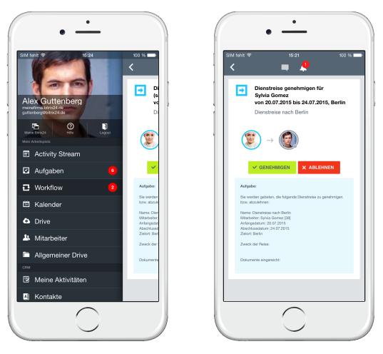 LINXYS Social Intranet Mobile Workflows Bitrix24